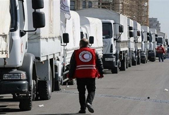 المساعدات الإنسانية تصل الغوطة الشرقية رغم الغارات الجوية