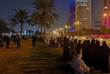 الآلاف في شوارع الدوحة لاستقبال المنتخب القطري