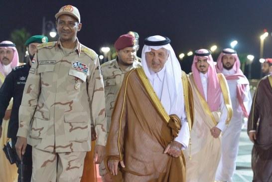 حميدتي يصل السعودية للمشاركة في القمة العربية