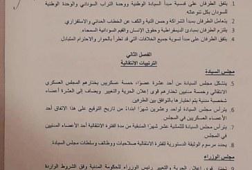 """""""سودان برس"""" ينشر تفاصيل الإتفاق السياسي بين المجلس العسكري وقوى الحرية والتغيير"""