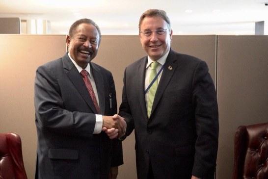حمدوك يبحث فرص الشراكة مع برنامج الأمم المتحدة الإنمائي بنيويورك