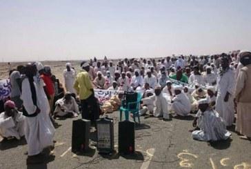 """معدنون يهاجمون إعتصام أهالي """"صواردة"""" بالشمالية"""