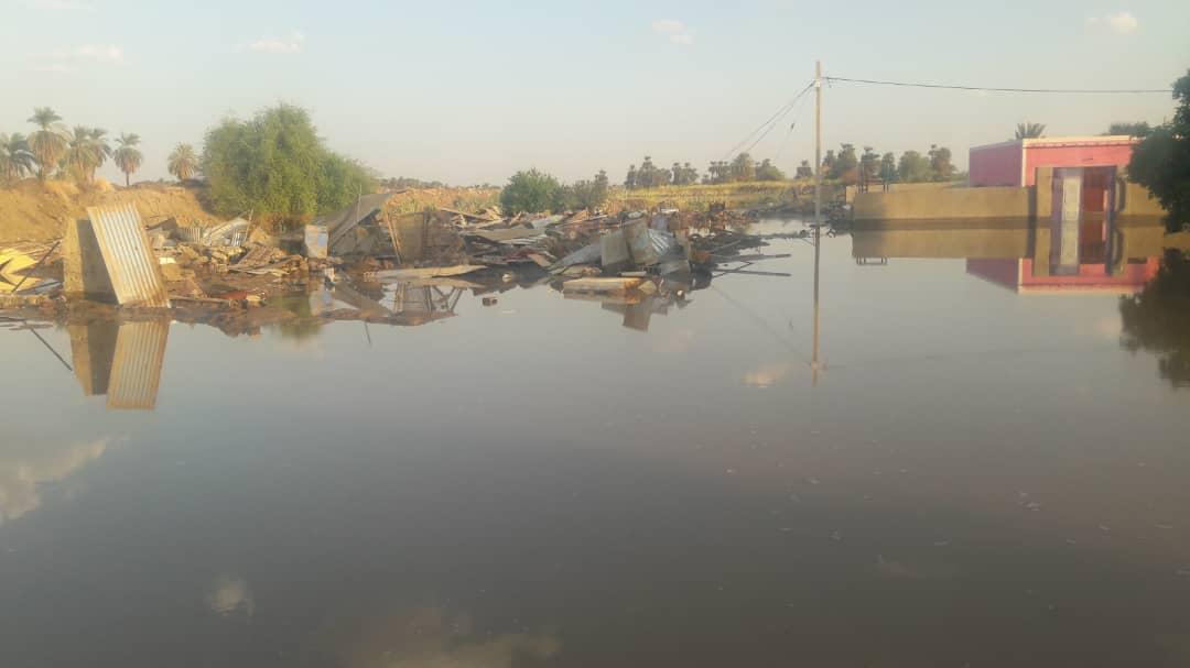 غرق منازل بمشروع البرقيق بالشمالية بسبب إنهيار الترعة الرئيسية